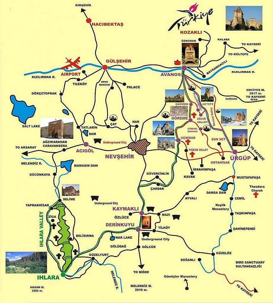 Cappadocia Maps